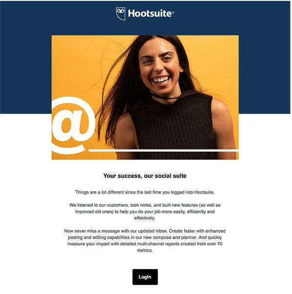 Hootsuite We Miss You Email