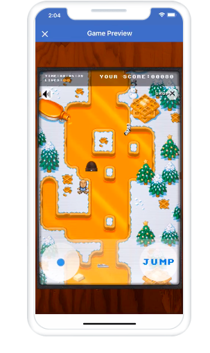 Playable ad on Facebook