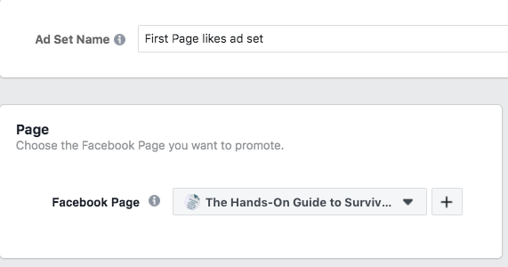 Option to choose which Facebook Page you want to promote