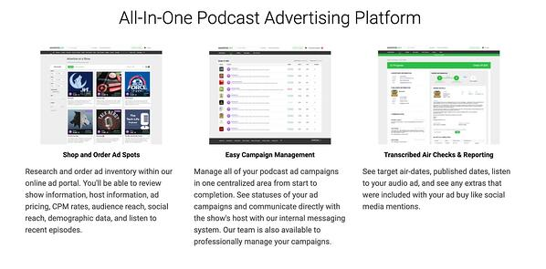 AdvertiseCast offers all-in-one advertising platform for their sponsors.