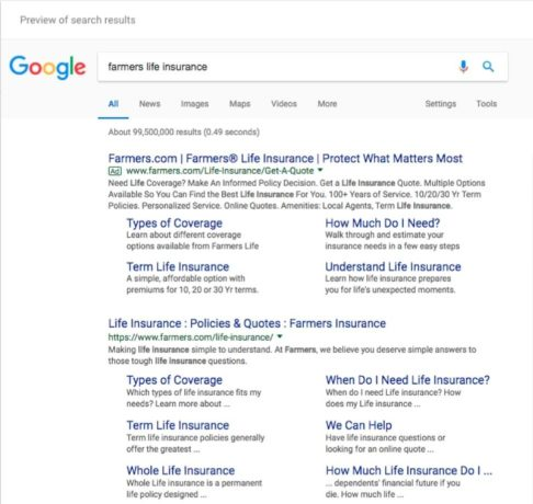seo and paid search query