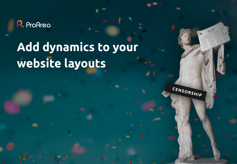 Add dynamics to your website layouts
