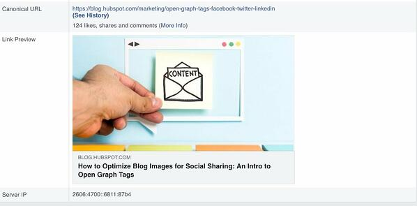 Facebook debugger tool portrays post preview so you can ensure everything looks accurate.