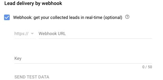 Webhook on Lead Form
