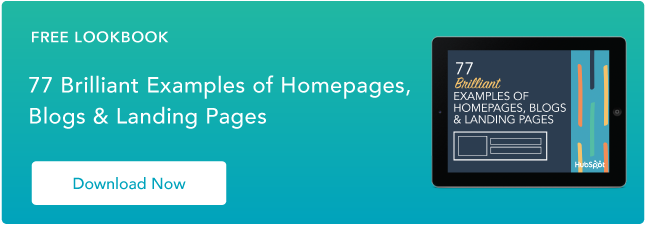 examples of brilliant homepage, blog, and landing page design