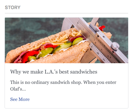 """Published Story """"We we make L. A.'s best sandwiches"""""""