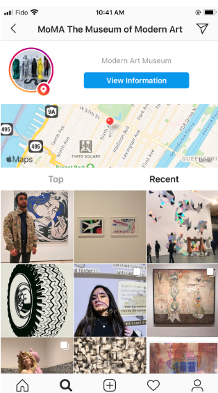 Instagram posts geotagged with MoMA