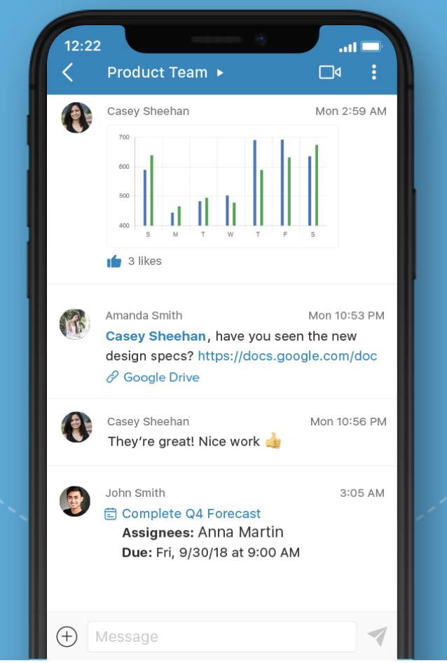 Glip RingCentral project management and communication app