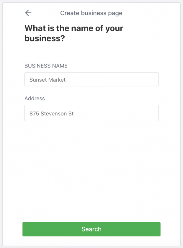 How to create a Nextdoor business profile: adding your business name
