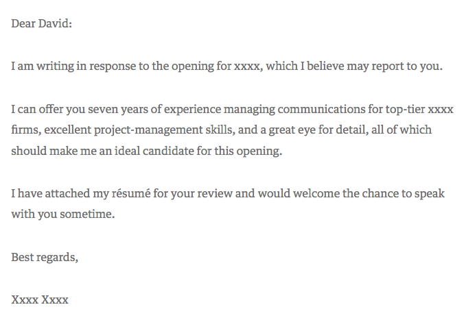 Straight-to-the-point cover letter template