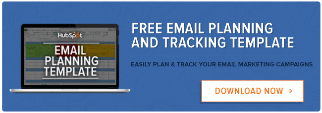 free email planning and tracking template