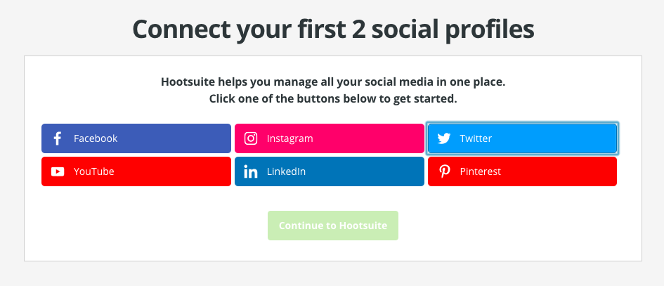 add multiple twitter accounts in Hootsuite