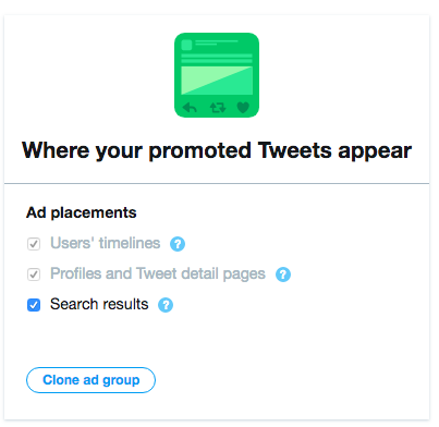 twitter ad placement options
