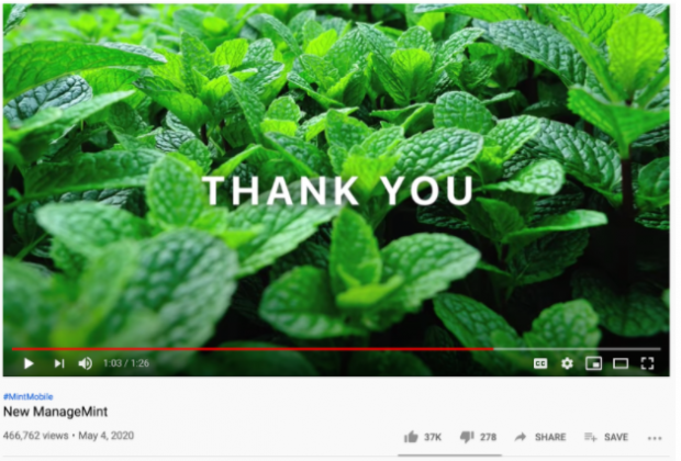 Mint Mobile youtube ad