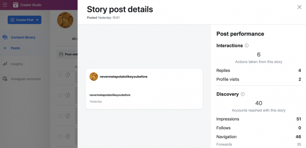 Story post details