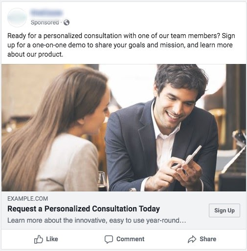 low-funnel facebook ad example