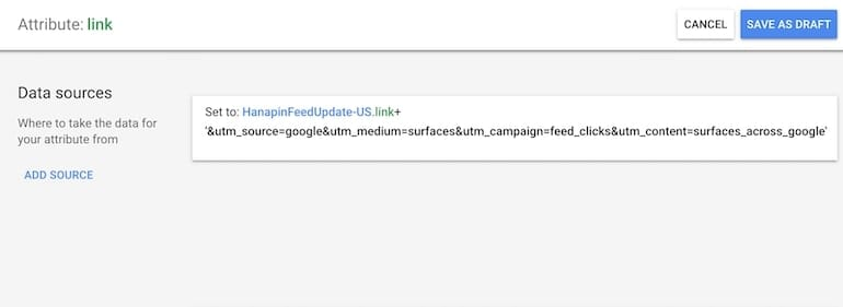 save your link rule in google merchant center