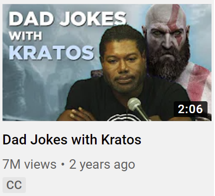 """YouTube video image for """"Dad Jokes with Kratos"""""""