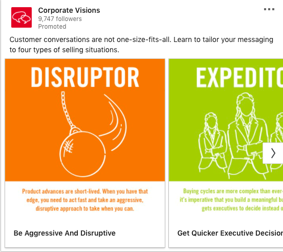 Corporate Visions' Carousel Ad