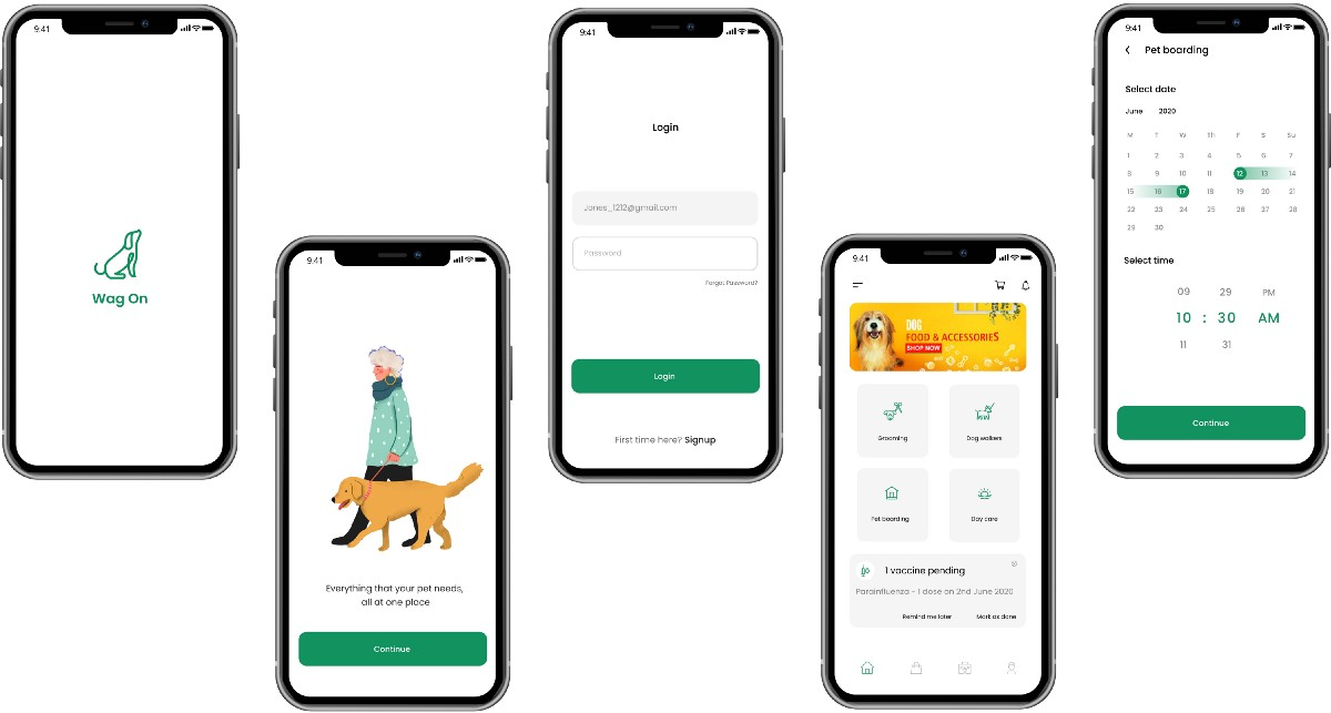 A UI/UX case study on- Wag On