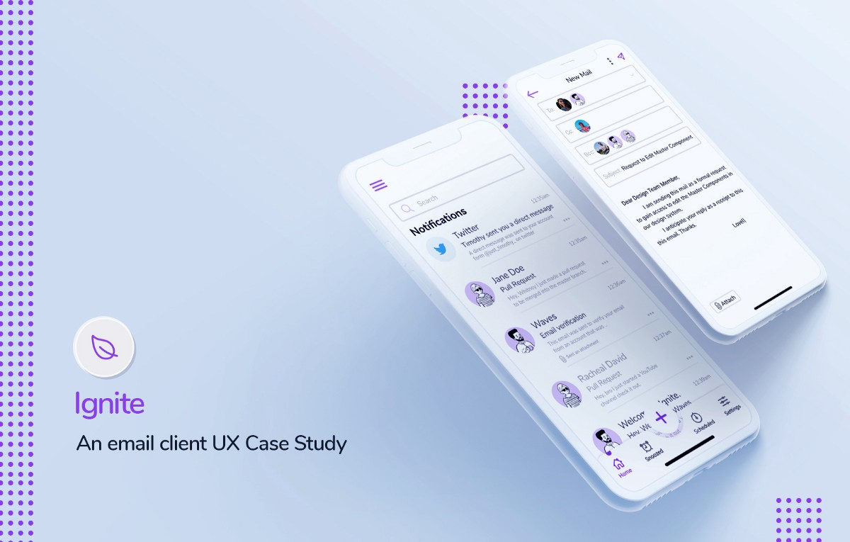 Ignite — An email client UX Case Study | by Timothy Ayegbede | Jul, 2020