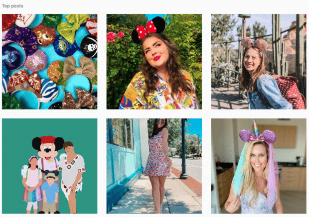 screenshot of the #shareyourears hashtag page on Instagram