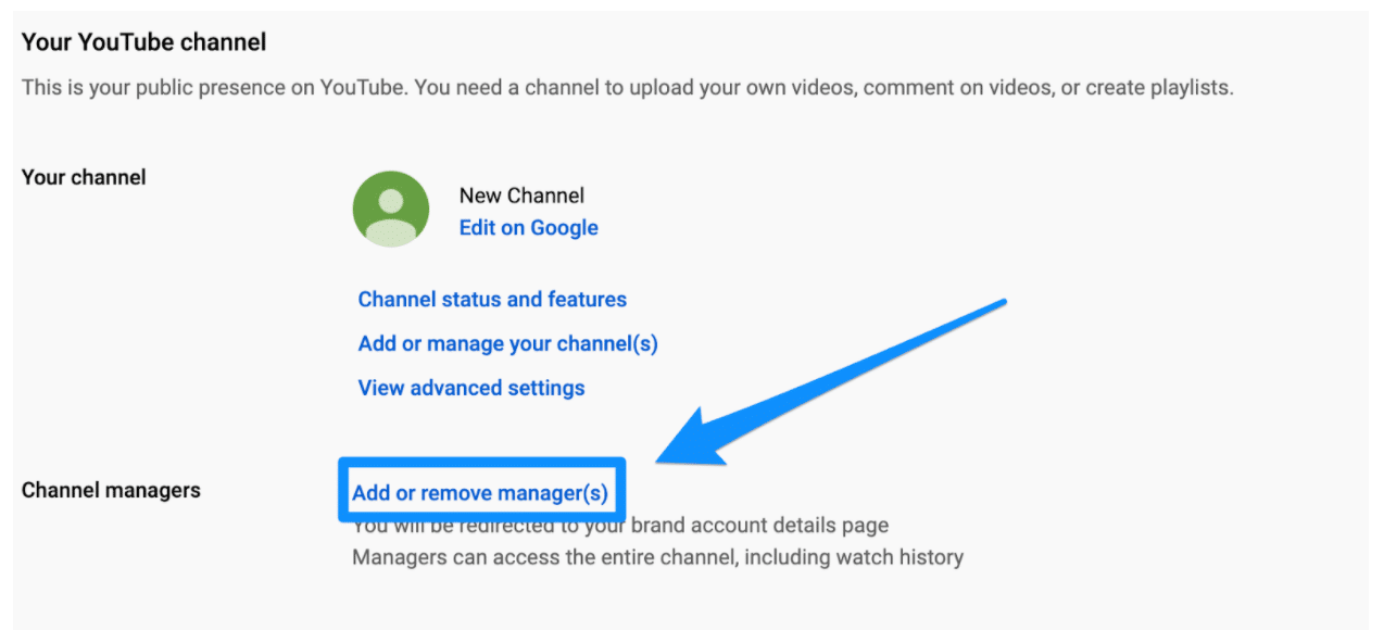 Channel managers add or remove manager(s)