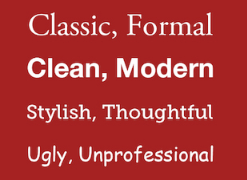 Examples of fonts for PowerPoint