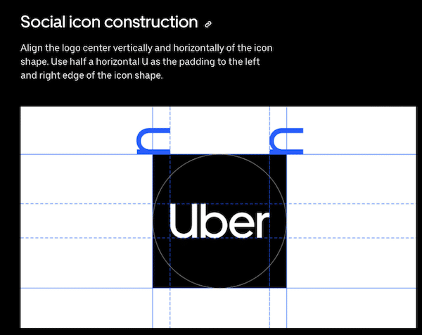 Uber logo as profile picture