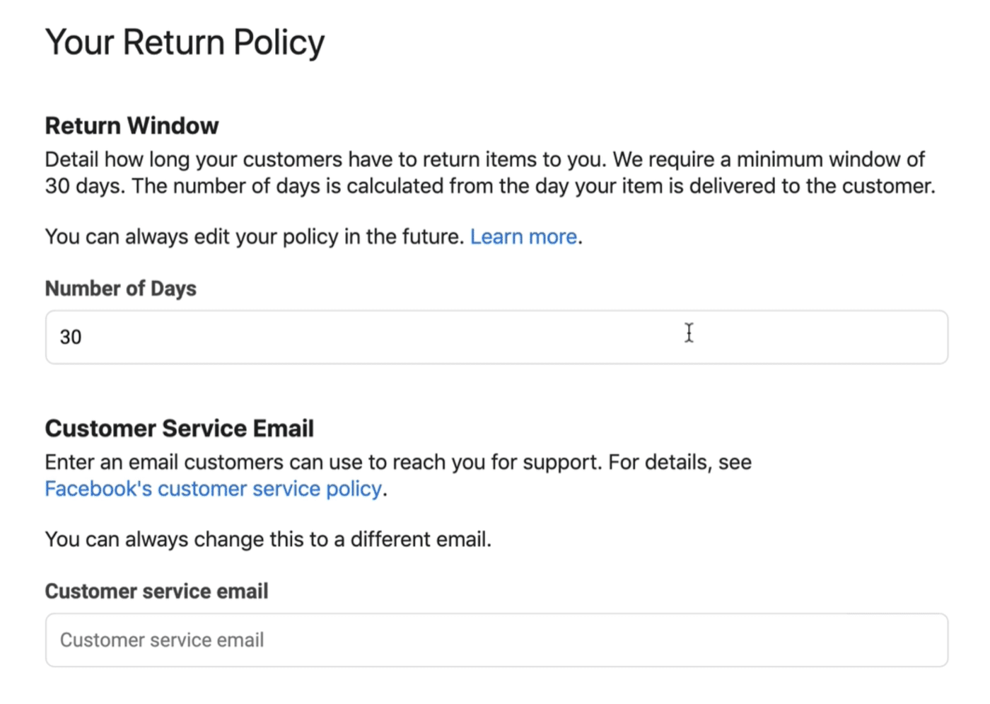 Your Return Policy
