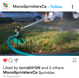 Sprinkler account boring content example