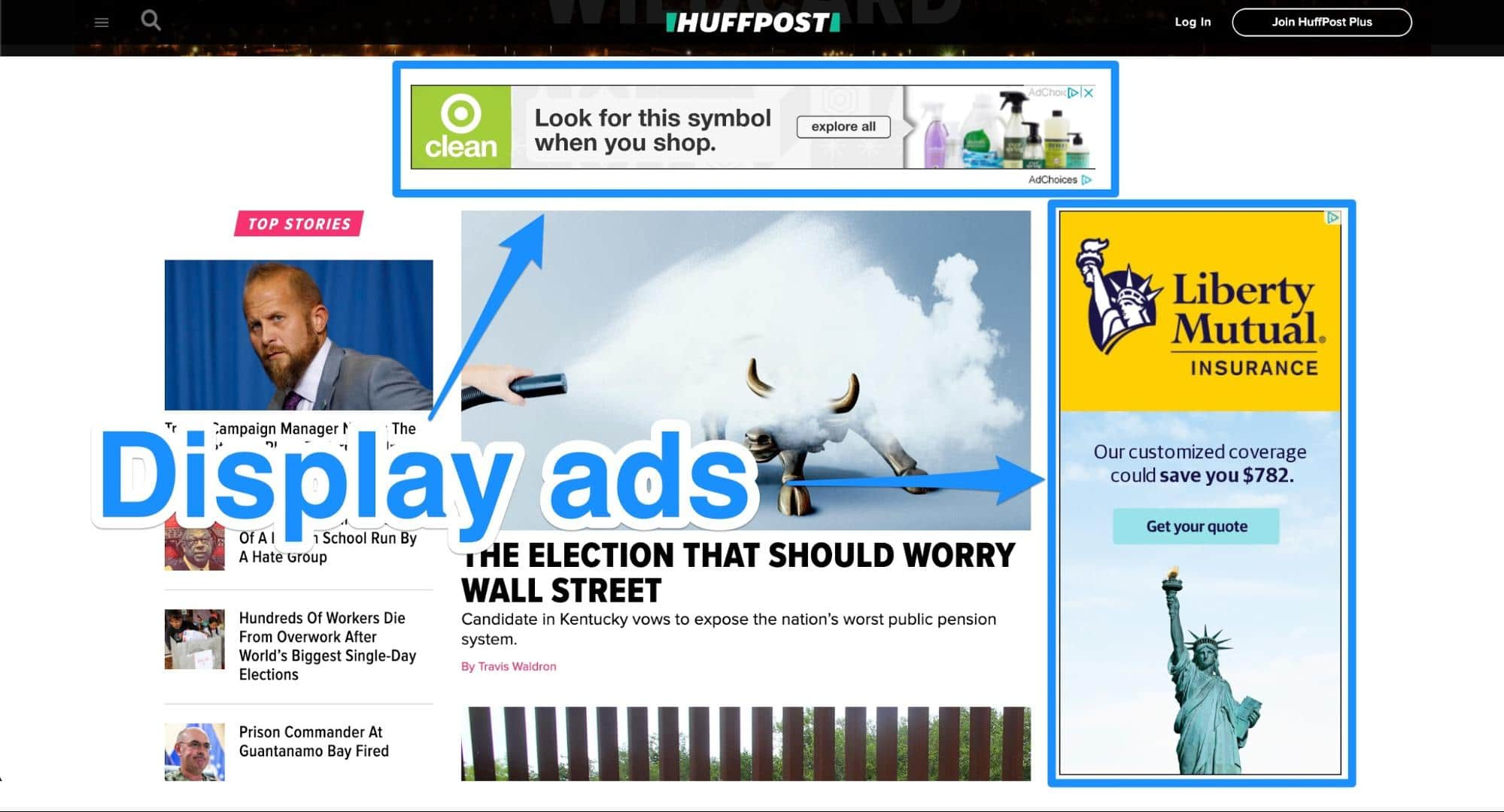 Display campaign third party websites