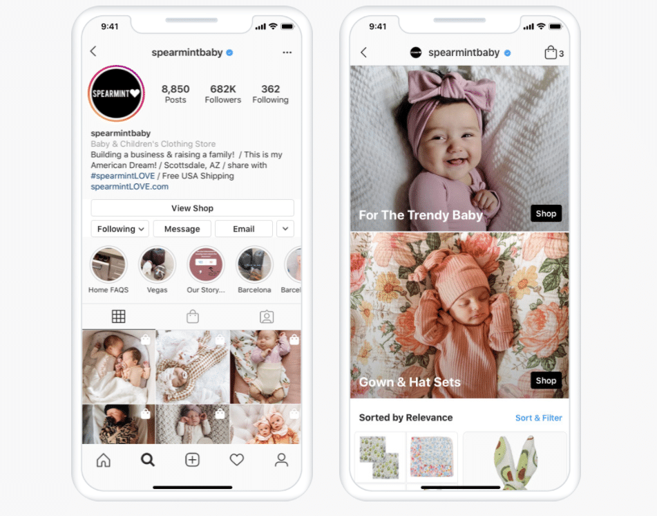 Spearmint Baby Instagram Shop