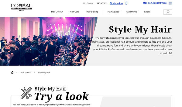 loreal virtual makeover great digital customer experience example