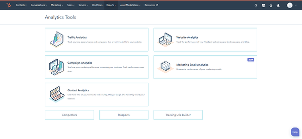 hubspot analytics tools and CRM