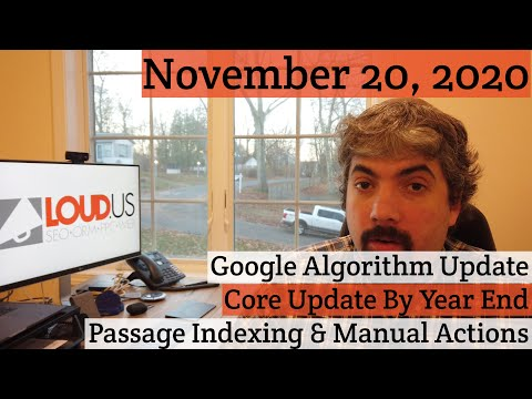 Google Algorithm Update, Core Update By Years End, Passage Indexing & Manual Actions