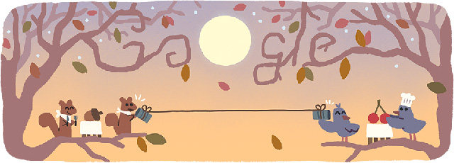 Google's Socially Distant Thanksgiving Day Logo With History of Thanksgiving