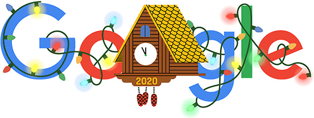 Google's New Year's Eve 2020 Doodle & Confetti