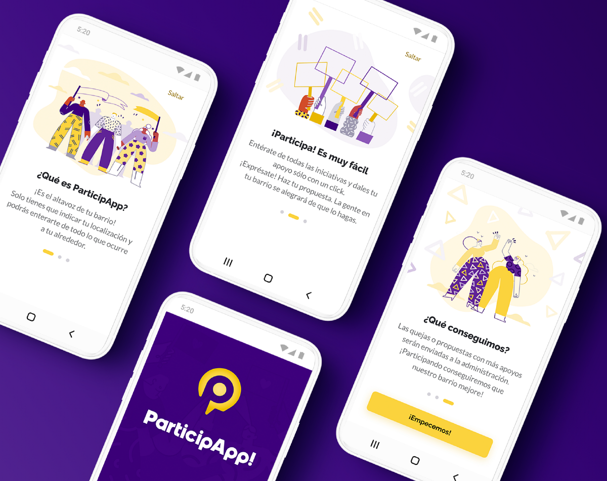 UX/UI Case Study: ParticipApp!. A tool that gives you voice for the… | by Litzanna | Dec, 2020