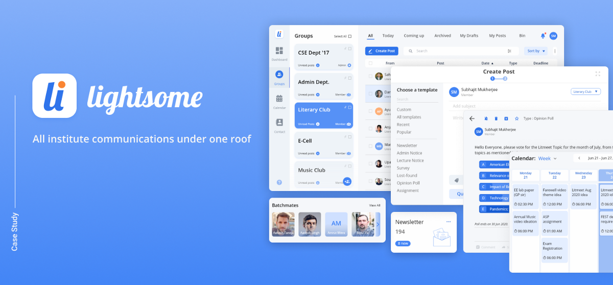 Lightsome — Declutter your Institute Mailbox: A UI/UX Case Study | by Soham Mitra | Dec, 2020