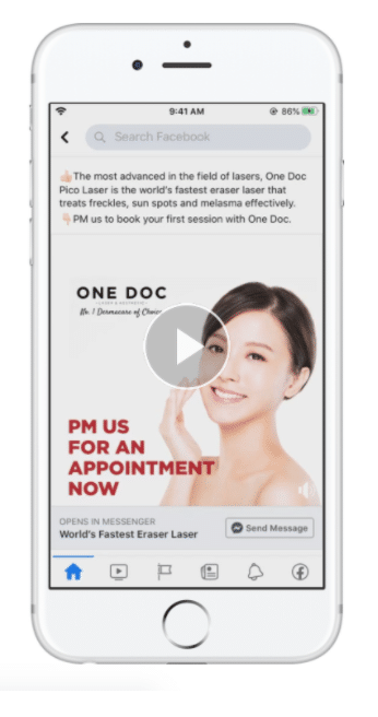 One Doc Laser and Aesthetic campaign call to action