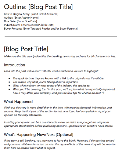 Free Blog Post Templates