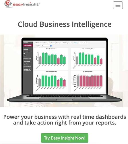 ad hoc reporting tool - Easy Insights