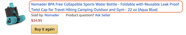 How to Optimize Your Amazon Product Pages product title