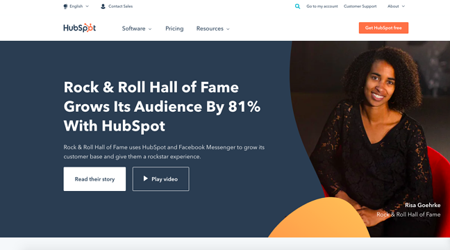 marketing collateral example of case study of HubSpots customer the Rock & Roll Hall of Fame