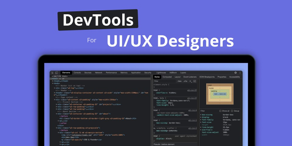 How to Leverage Browsers' DevTools as a UI/UX Designer