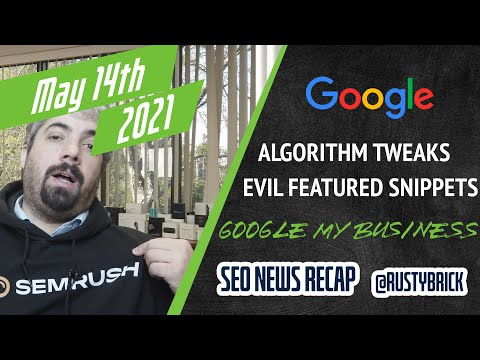 Two Google Algorithm Updates, Machine Learning at Google, Google My Business Updates & More