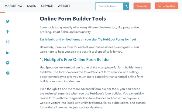 blog post about form builder tools