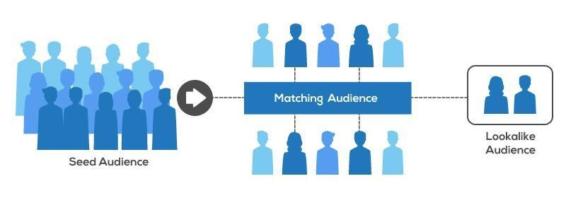 Seed Audience to Matching Audience to Lookalike Audience