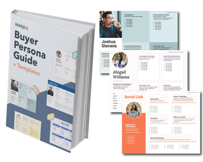 a buyer persona template for Content Marketing from HubSpot